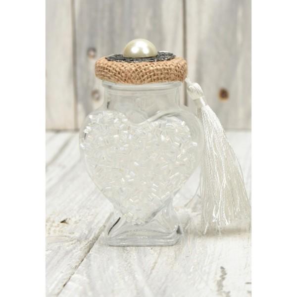 Jar 100ml silver bead in the shape of a heart 1