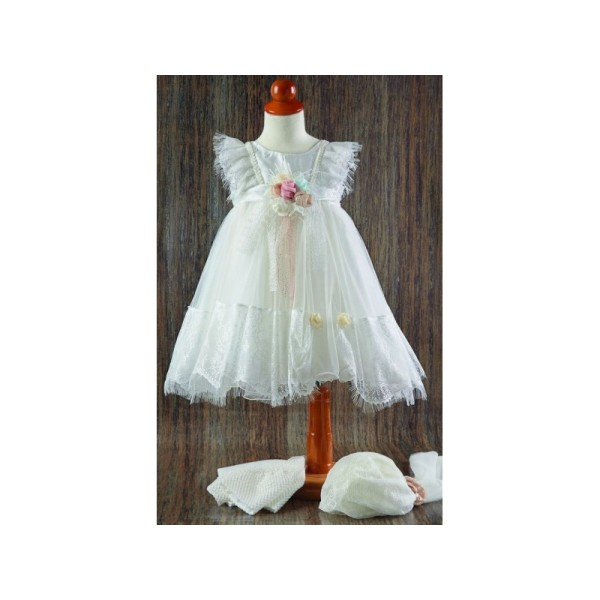 DRESS WITH LACE 21107