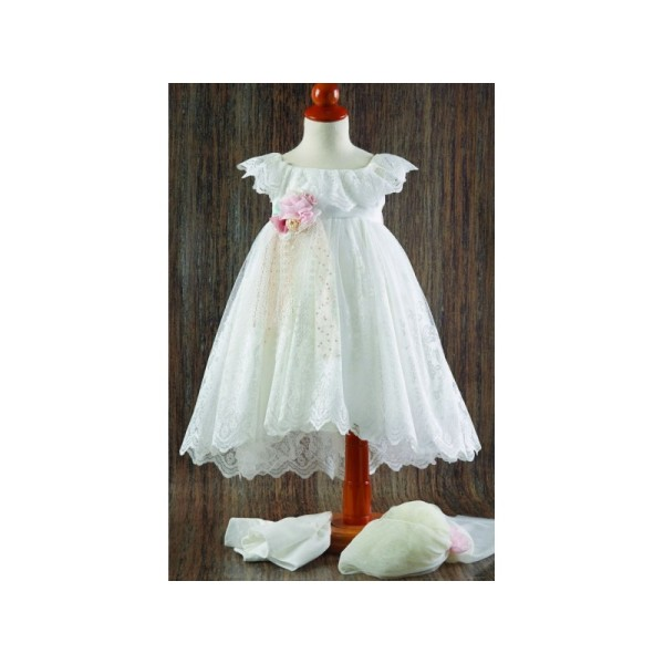 DRESS WITH LACE AND TAIL 21164
