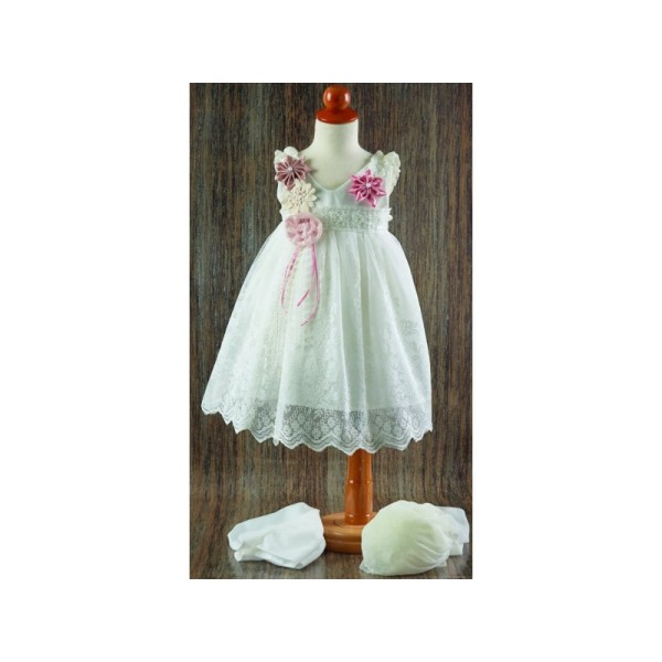 DRESS WITH LACE 21165