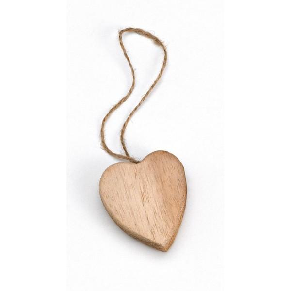 Heart Wooden Favor Candy Box
