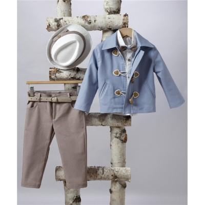 2501-2 Turtleneck, cotton shirt and turtleneck jacket