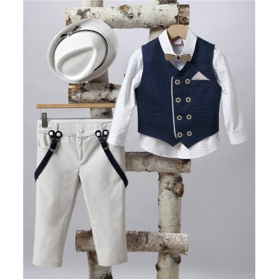 2505-1 Turtleneck, cotton shirt and turtleneck vest.