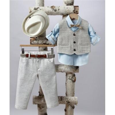 2507-1 Turtleneck pants, cotton shirt and turtleneck vest.