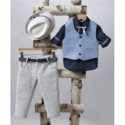 2507-2 Turtleneck, cotton shirt and turtleneck vest.