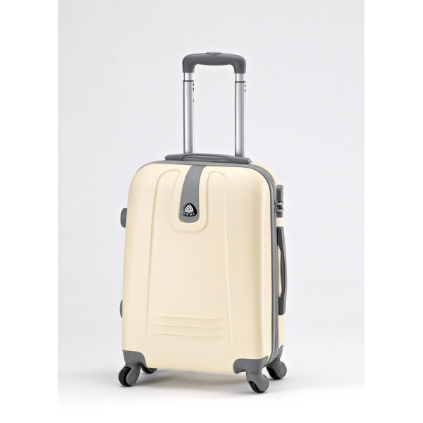ABS TROLEY Suitcase with Legs & Handle 20 ″ Ecru