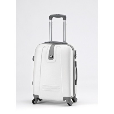 ABS TROLEY Suitcase with Legs & Handle 20 ″ White