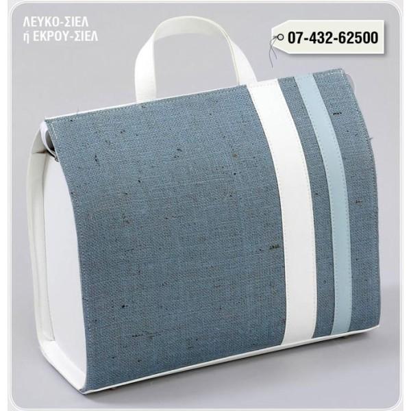 LEATHER Zipper LINENCA BLUE LEATHER BAG