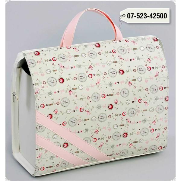 LEATHER Zipper Bag Fabric KAPARDINA BIRD